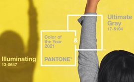 De Pantone kleur voor 2021 is Illuminating Yellow en Ultimate Grey
